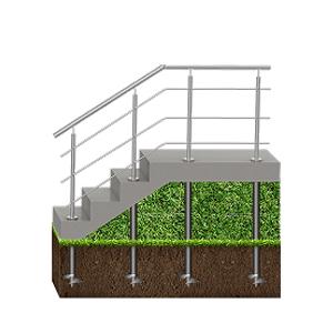 Фундамент под лестницы
