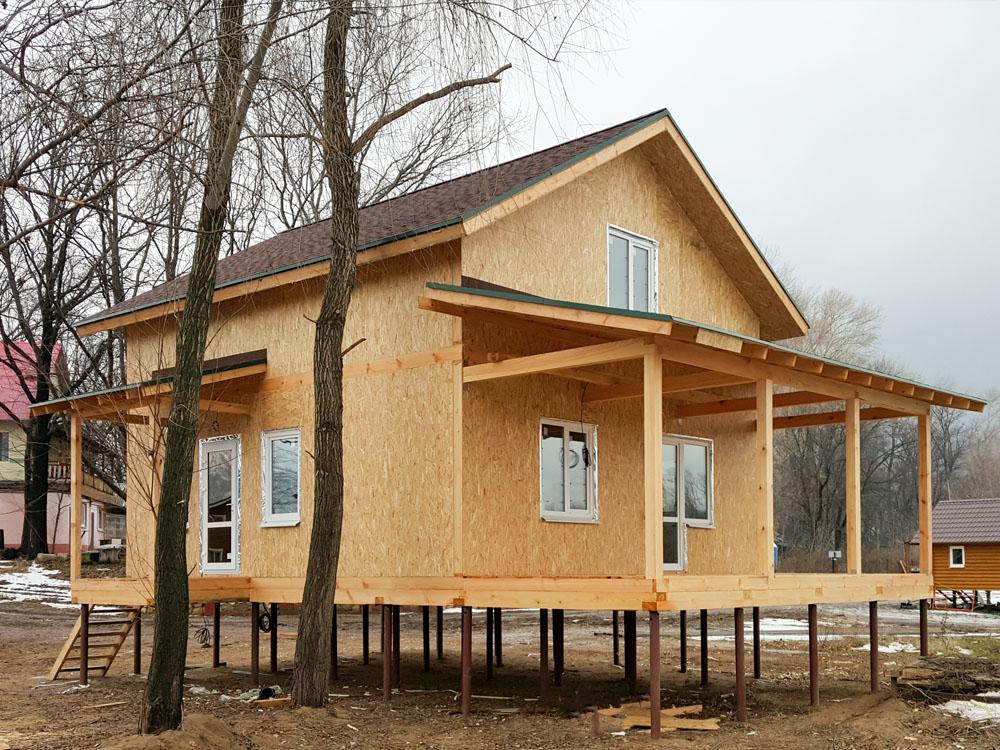 Каркасный дом для проживания