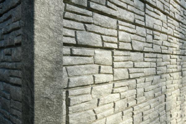 """Фасадные панели """"СТОУН-ХАУС"""" Светло-серый"""
